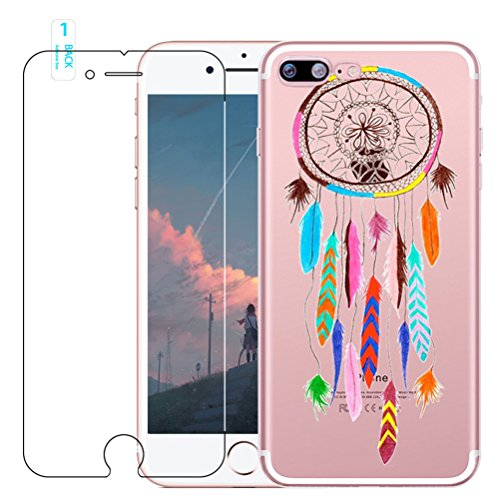 Coque iPhone 7 Plus / 8 Plus avec Verre Trempé, blossom01 Cute Motif Dreamcatcher Premium TPU Souple Etui de Protection [absorbant les chocs] [Ultra mince] [Anti-rayures] pour iPhone 7 Plus / 8 Plus #10