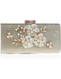 16c4ea674e ColorYan Pochette Donna Pochette da Sera, Borsa da Sera con Fiore in  Perline e Borsa