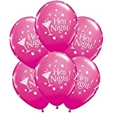 6 x 11 Hen night Latex balloons by Qualatex