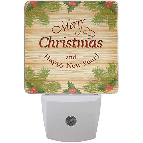 Katrine Store Merry Christmas Snowflake Night Light Plug in Neonati, Happy New Year Night Lights Auto Motion Senor, 2pz