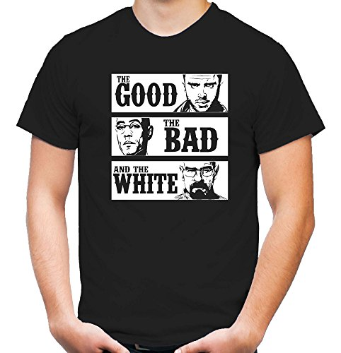 Crystal Meth Kostüm - uglyshirt87 The Good The Bad and The White T-Shirt | Herren | Walter | Bekleidung | Crystal Meth | Heisenberg | Kult (L)