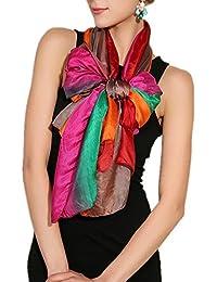 MEISHINE® 180 * 110cm Mujer 100% Seda Fular Pañuelo Bufanda Estola Chal Ideal for Evening Wedding Ceremony