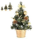 Comtervi Albero di Natale/Albero di Natale Decorazione 20cm / 30cm / 40cm cm, Mini Albero Artificiale Decorazioni di Natale Regali di Natale per la Famiglia (40cm)