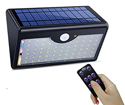 SIEGES 60 LED Solar Outdoor lights 5 model Security Motion Sensor Solar Powered Lights Outdoor Wall Lamp Waterproof Solar Lights with 120 Degree Wide Angle fit Garden, Patio, Walkway Lighting Fence Stairs Yard or Driveway - inexpensive UK light shop.