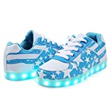 LJ Sport LED Schuhe Jungen Mädchen Herren Frauen Sterne Leuchten Schuhe USB Lade Leucht Schuhe