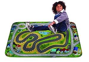 House Of Kids 86131-E3 - Alfombrilla de Juego Ultra Suave (130 x 180 cm), diseño de Ciudad de Carreras
