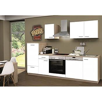 Küchenzeile Biggi Inkl. Elektrogeräte Und Kochplatten 270 Cm Möbel