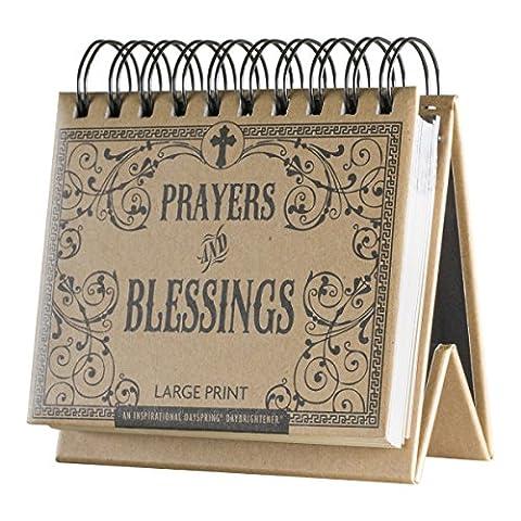 DaySpring Prayers and Blessings, DayBrightener Perpetual Flip Calendar, 366 Days of Inspiration