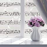 Brussels08finestra per la privacy floreale decorativa ad adesivi Frosted Window film privacy tendine da cucina bagno adesivo vetro non adesivo finestre sfumature decalcomanie, PVC, 10