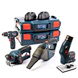 Bosch Wood + Clean Connection 12 Volt GHO12V20 + GKF12V8 + GSR12V15 + GAS12V