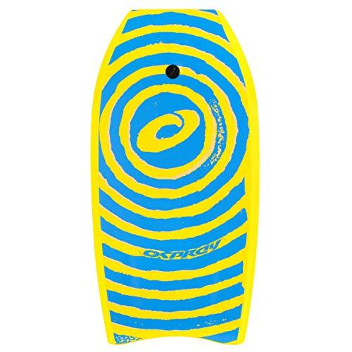 Osprey XPE Spiral Bodyboard für Kinder/Erwachsene, Motiv Spirale, glattes Board, Crescent-Tail, 94cm, Kinder, XPE Spiral, Doré - jaune