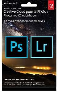 Creative Cloud pour la Photo (Photoshop CC + Lightroom) - carte d'activation (ne contient pas de support physique)