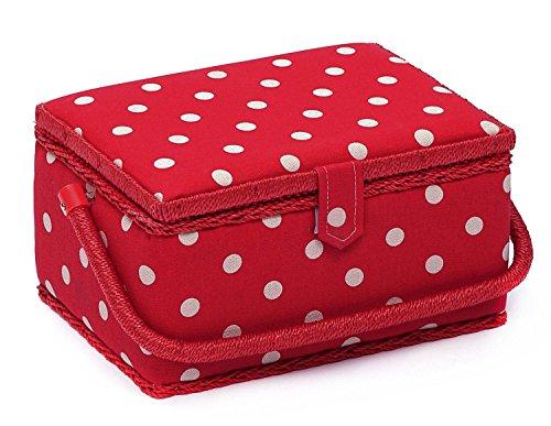 hobby-gift-mrm-22-a-pois-design-scatola-da-cucito-macchie-bianche-sul-rosso-scuro-medio-185-x-26-x-1