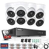 ANNKE 8CH Full HD 1080P Dome Video Überwachungskamera System 8 Kanal 3MP HDMI