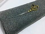 Sourcingmap Tweed-Stoff mit Fischgrätenmuster, Grau