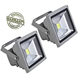 Ultra Slim 20 Hiper Moon Lense LED IP6667 Flood Light Focus Pure Cool White AC Outdoor Waterproof IP65 - Pack Of 2