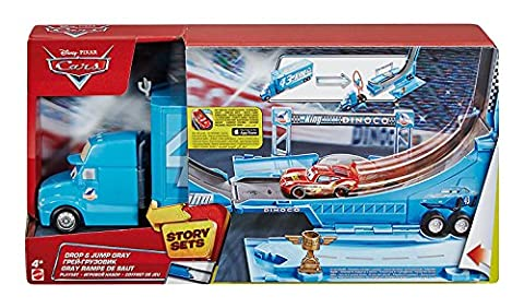 Disney Cars Drop and Jump Gray Transporter Playset