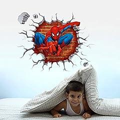 Idea Regalo - bambini adesivi murali, adesivi murali camera da letto, arredamento camera dei bambini, decorazione della parete sala giochi (Spiderman)