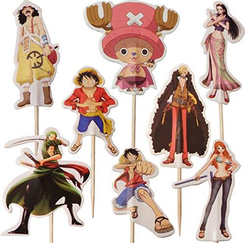 One Piece Monkey D Luffy -Kuchen-Toppers (Packung mit 24)