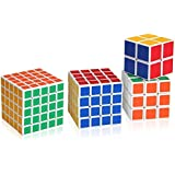 Set von 4 Cube Magique Cube 2x2x2, 3x3x3, 4x4x4 und 5x5x5 First Choice For Beginners / Kids
