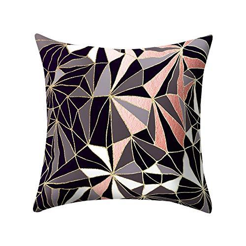 Beonzale Rose Black Gold Kissenbezug Square Home Decoratio