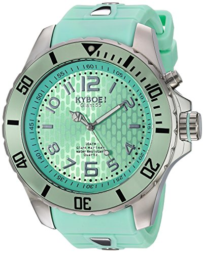 KYBOE Unisex-Adult Analogue Quartz Watch with Silicone Strap SC.55-003.15