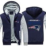 CCL NFL Football Kleidung New England Patriots Trainingsanzug Verdickung Plus Samt-Zipper Kapu