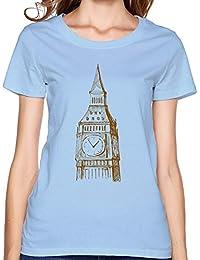 Girlfriend Geek Slim Fit London Big Ben Clock Design Tshirts XXXX-L