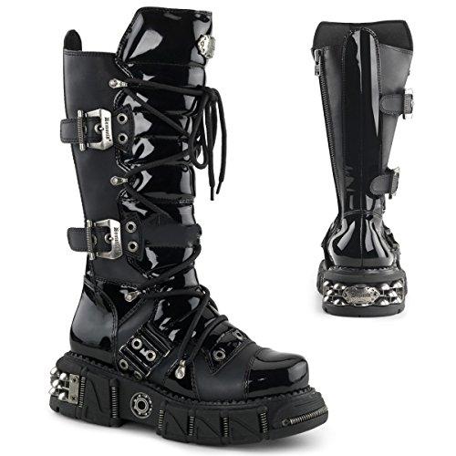 Demonia DMA-3006 - scarpe gotiche metallo punk Industrial stivali ranger 39-46, US-Herren:EU-40/41 (US-M8)