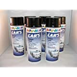 Dupli Color 385865 Car 's Rallye barniz de color negro brillante 6 latas de aerosol de 400 ml.