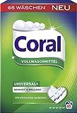 Coral Vollwaschmittel Universal+ Pulver, 65 WL 1er Pack (1 x 4.55 l)