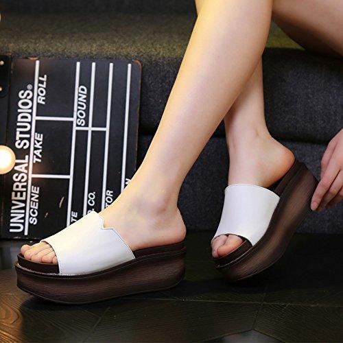 TONGS SANDALES 7cm Femmes pantalons hauts en été Sandales en bas épais flip flop de mode avec 6 sortes de couleurs élégant #1