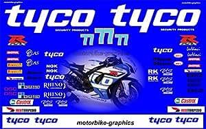 Suzuki Tyco 2013 Mackenzie BSB race decals graphics stickers
