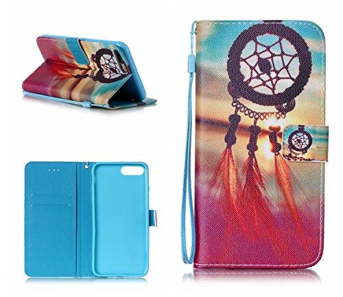 iPhone 7 Plus Hülle, iPhone 8 Plus Hülle, Valenth [Pu Leder] Geldbörse Hülle Abdeckung [Standfeder] Flip Hülle mit Kartensteckplätzen für iPhone 8 Plus / iPhone 7 Plus 8#