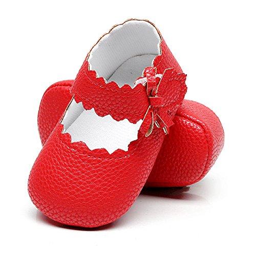Sabe , Baby Mädchen Lauflernschuhe, Rot - rot - Größe: 12-18 monate  (Leder-schuhe Rote)