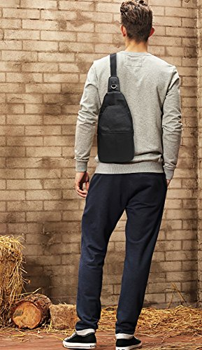 CLOTHES- Versione coreana della traversa trasversale trasversale obliqua dell'unità di elaborazione Moda selvaggia di viaggio di svago Sacchetto di cassa delle coppie dell'uomo ( Colore : Nero ) Nero