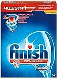 finish Calgonit Powerball Alles-in-1 Tabs (Reiniger, Klarspüler, Salzfunktion, Glasschutz, Spülkraftverstärker, Edelstahlglanz) - 52 St.
