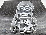 Kekstempel/ Ausstechform Minion versch. Logos aus biolog. PLA ca.8cm (Minion mit Mütze)