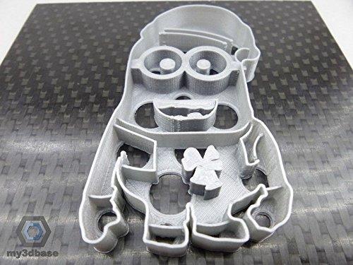 Kekstempel/ Ausstechform Minion versch. Logos aus biolog. PLA ca.8cm (Minion mit ()