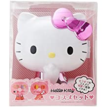 Hello Kitty Kitty shaped case containing cosmetics set