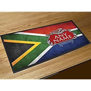 Artylicious Personalised South Africa flag beer label bar pub bar runner counter mat