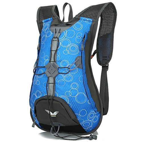 SHTH Damen Herren Fahrradrucksäcke Outdoor Wasserdichter Rucksack Trekking Wandern Klettern Backpack , 44x30x15cm , 15L