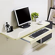 DS mesa plegable Mesa de Escritorio de Madera montada en la Pared con Soportes de Aluminio