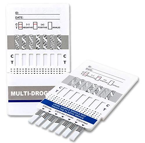 5 x Drogenschnelltest für 7 Drogenarten - Kokain - Cannabis - Methampetamin - Drogenschnelltest Cannabis