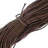 10M Weiß Wachsschnur Wachsband Gewachste Baumwollkordel Wachskordel Schmuckband Baumwolle Seil Schnur Schmucksachen Armband - dunkel Kaffee