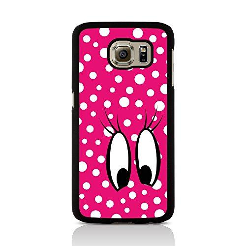 Call Candy Diseño de Lunares Ver diseño de Carcasa para Samsung Galaxy S6 Edge - Rosa/Blanco/Negro