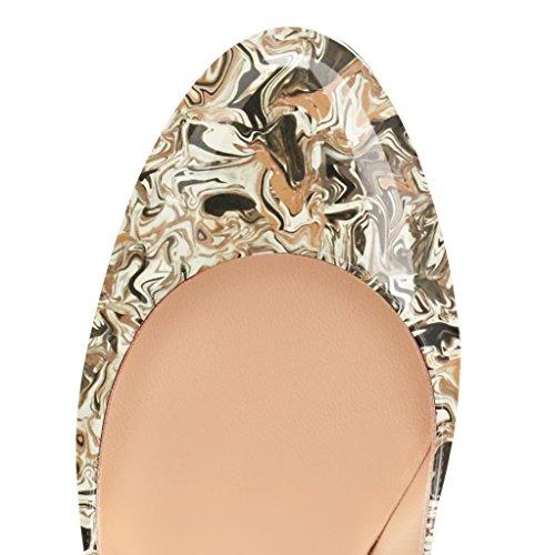 Guoar - Scarpe chiuse Donna Braun-Mehrfarbe
