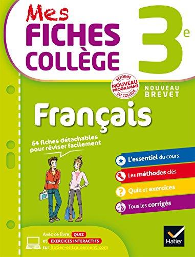 Mes Fiches de Révision Français 3e - Nouveau programme 2016