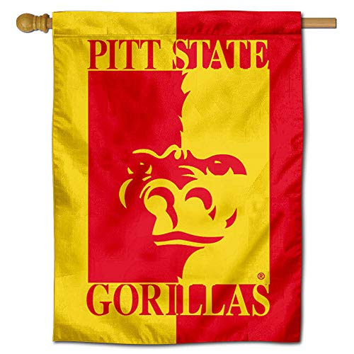 College Flags and Banners Co. Pitt State Gorillas Banner House Flagge