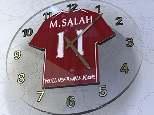 Mohamed Salah 11???Liverpool FC–Camiseta de fútbol reloj de pared???Fútbol Legends?dition Limit?E